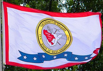 Raleigh County, West Virginia - The Flag Of Raleigh County in Beckley