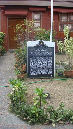 Narciso Ramos - Ramos House marker