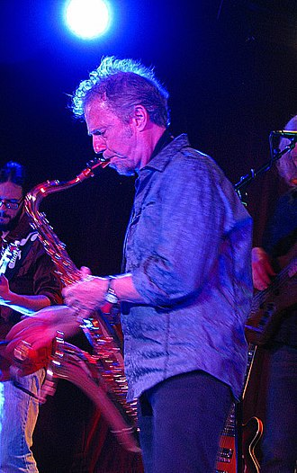 Randall Bramblett - Randall Bramblett on sax at The Saint, Asbury Park, NJ, on September 14, 2013.