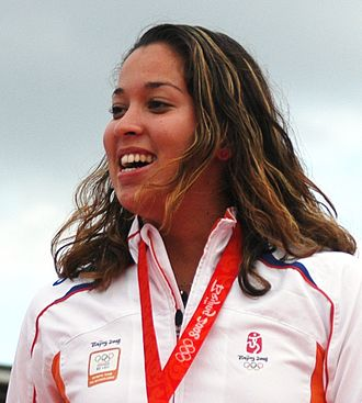 2009 FINA Swimming World Cup - Ranomi Kromowidjojo, winner of the women's 100 m freestyle in Durban.