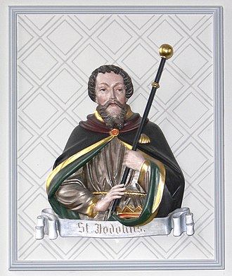 Judoc - St. Judoc, as depicted in the Church of St. Christina in Ravensburg.