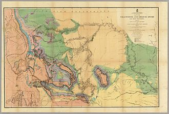 William F. Raynolds - Hayden's geological map from the expedition that was published in 1869