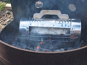 Reflector oven - The oven set directly on hot coals