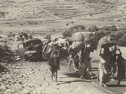 Palestinians fleeing from Galilee to Lebanon in October/November 1948 Refugees in Galilee.jpg