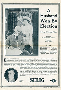 Release flier for A HUSBAND WON BY ELECTION, 1913.jpg