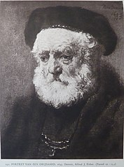 Old man with beard and beret