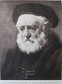 Rembrandt or follower - Portrait of a man with a beard in beret.jpg