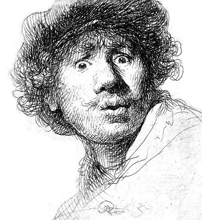 Autoportrait de Rembrandt au Rijksmuseum à Amsterdam.