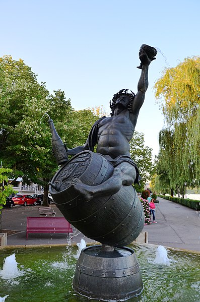 Statue of Dionysus in Remich Luxembourg
