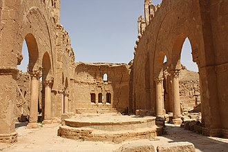 Bahra' - Ruins of the basilica of St. Sergius in Resafa, which the Bahra' tribe were in charge of protecting as tribal federates of the Byzantine Empire