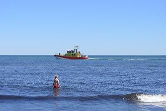 Rescue craft - Swedish Sea Rescue Society's Rescue Gad Rausing, stationed in Skillinge, outside Mälarhusen 2013.