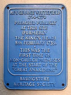 Rev.george whitefield basingstoke heritage society