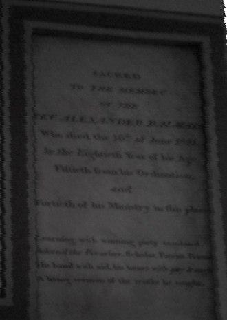 Alexander Balmain - Image: Rev. alexander balmain memorial