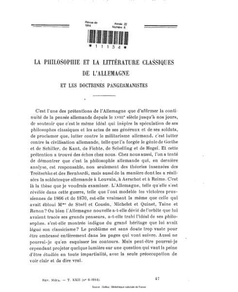 File:Revue de métaphysique et de morale, numéro 6, 1914.djvu