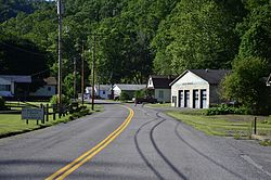 State Highway 33 in Rhodell