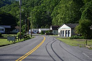 Rhodell, West Virginia - County Route 33 in Rhodell