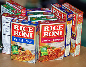 An assortment of Rice-A-Roni boxes