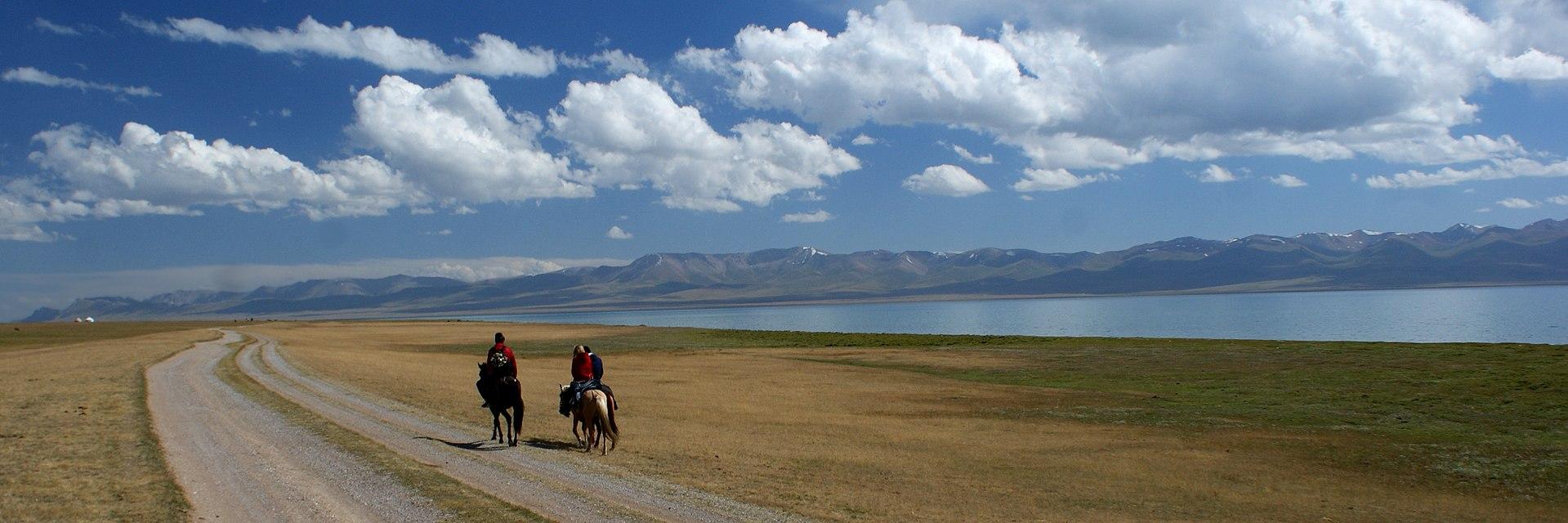 Riding at Song Kol lake.jpg