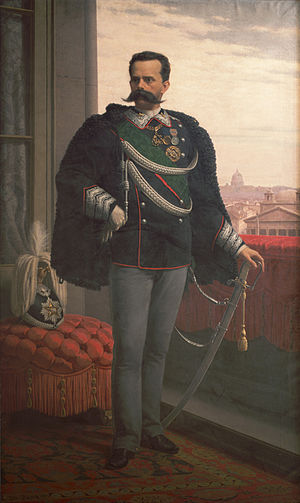 Umberto I of Italy - Portrait in 1878.