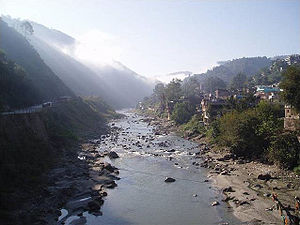 Mandi, Himachal Pradesh - The River Beas where it runs through the city of Mandi, Himachal Pradesh(Photo Taken in 2004)