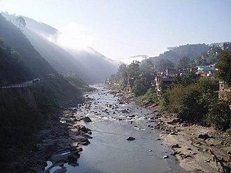 Mandi, Himachal Pradesh - The River Beas where it runs through the city of Mandi, Himachal Pradesh(Photo Taken in 2004)