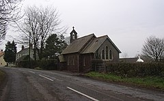 Road and Church at Princes Gate, Lampeter Velfrey - geograph.org.uk - 47749.jpg