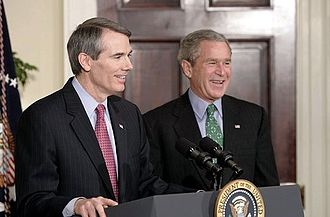 Portman with George W. Bush Rob portman with bush.jpg
