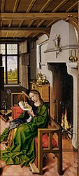 Robert Campin: Saint Barbara Reading