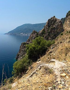 cliff in Euboea