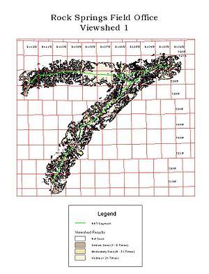 Viewshed analysis - Image: Rock springs fo