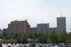 David Falk - The skyline of Rockville, Maryland, Falk's current place of residence