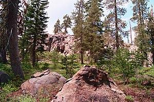 Lassen National Forest - A rock mesa in Lassen National Forest, Caribou Wilderness, California