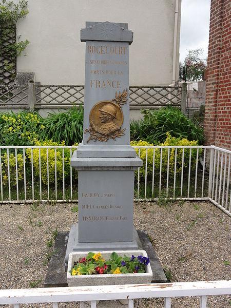 Rogécourt (Aisne) monument aux morts