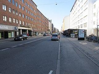 street in Frederiksberg Municipality, Denmark