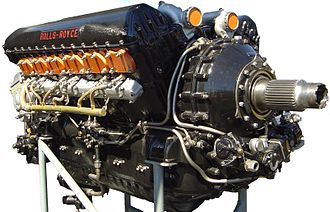 Aircraft engine - A Rolls-Royce Merlin V-12 Engine