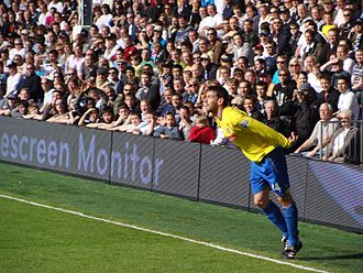 Rory Delap - Delap after a throw in 2009