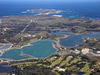 Rottnest Island - Naturally occurring salt lakes are a refuge for the abundant birdlife