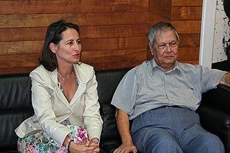 Ségolène Royal - Royal with Réunionese politician Paul Vergès in 2006