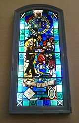 Royal Scots Regiment window, Canongate Kirk