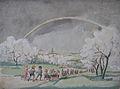 Rudolf Heinisch, Landschaftsskizze - Schulausflug, 1940er Jahre.JPG