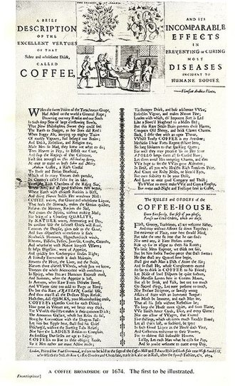 English coffeehouses in the 17th and 18th centuries - The Rules and Orders of the Coffeehouse