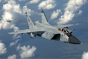 Mikoyan MiG-31 - Image: Russian Air Force Mi G 31 inflight Pichugin