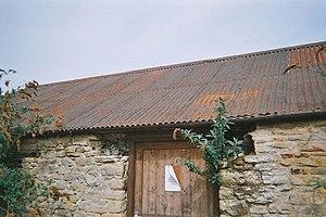 Galvanization - Rusted corrugated steel roof