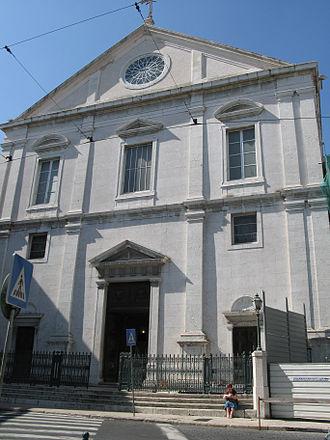 Igreja de São Roque - View of the main façade of the church.
