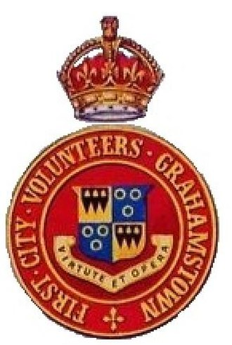 First City Regiment - Grahamstown First City Volunteers emblem