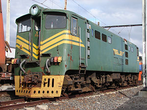 South African Class 5E, Series 1 - Class leader no. E259 at the Bellville Depot, Cape Town, 24 May 2009