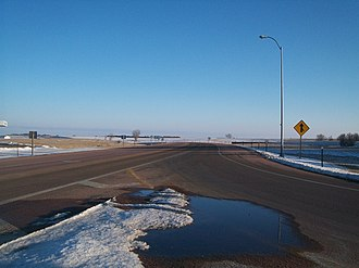 South Dakota Highway 19 - SD 19 has a concurrency with SD 44 in Parker