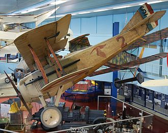 SPAD S.VII - An original SPAD S.VII at the Musée de l'Air et de l'Espace, once flown by Georges Guynemer in World War I
