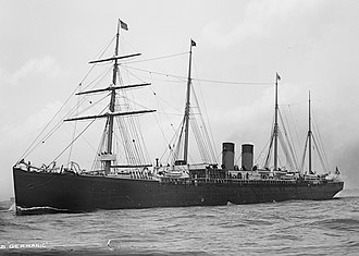 SS Germanic (1874) - Image: SS Germanic c 1890 1900