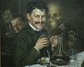 S Aleksic autoportret u kafani 1901.jpg